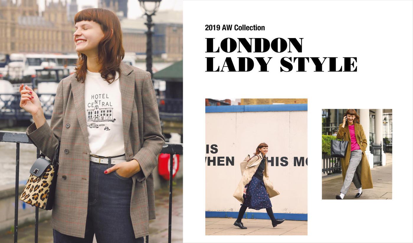 2019 AW COLLECTIONLONDON LADY STYLE